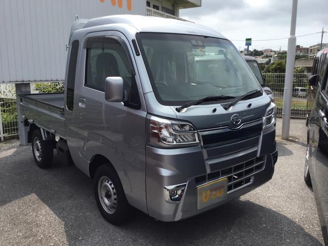 沖縄の中古車 ダイハツ ハイゼットトラック 車両価格 120万円 リ済別 平成30年 0.1万km ブライトシルバーM