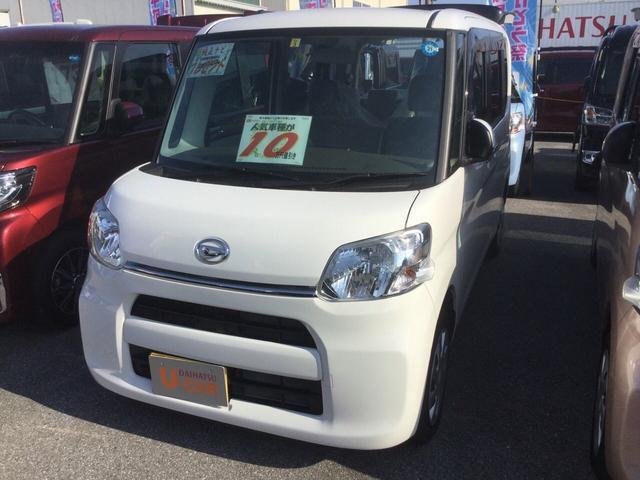 沖縄の中古車 ダイハツ タント 車両価格 133万円 リ済別 2018(平成30)年 0.5万km ホワイト