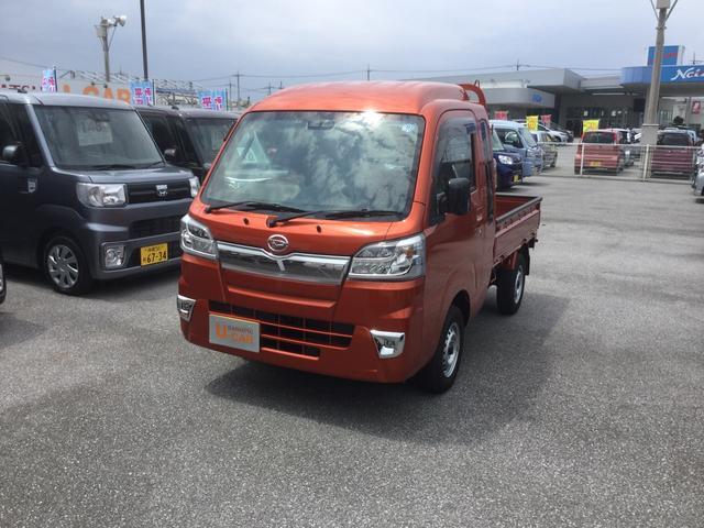 沖縄の中古車 ダイハツ ハイゼットトラック 車両価格 122万円 リ済別 平成30年 0.3万km トニコオレンジM