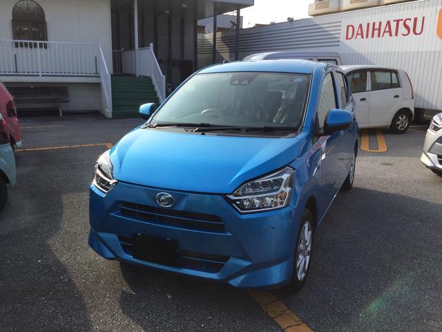沖縄の中古車 ダイハツ ミライース 車両価格 123万円 リ済別 2018(平成30)年 0.2万km スプラッシュブルーM