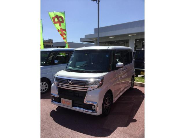 沖縄の中古車 ダイハツ タント 車両価格 172万円 リ済別 2018(平成30)年 17km パールホワイト3