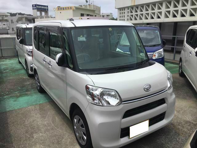 沖縄の中古車 ダイハツ タント 車両価格 95万円 リ済別 2014(平成26)年 3.4万km パールホワイト3