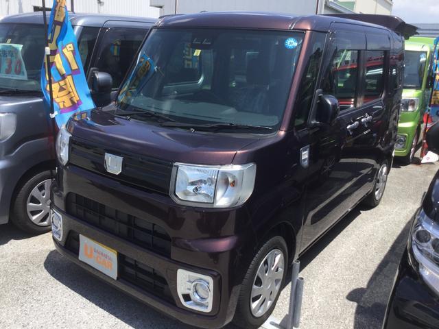 沖縄の中古車 ダイハツ ウェイク 車両価格 140万円 リ済別 2018(平成30)年 0.6万km プラムブラウンクリスタルマイカ