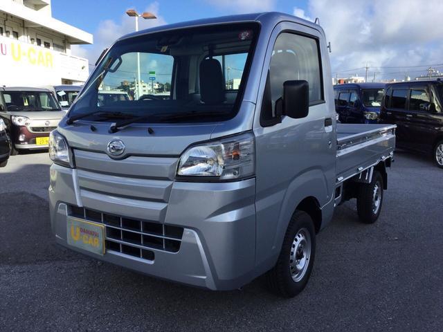 沖縄の中古車 ダイハツ ハイゼットトラック 車両価格 98万円 リ済別 2019(令和1)年 5km ブライトシルバーM