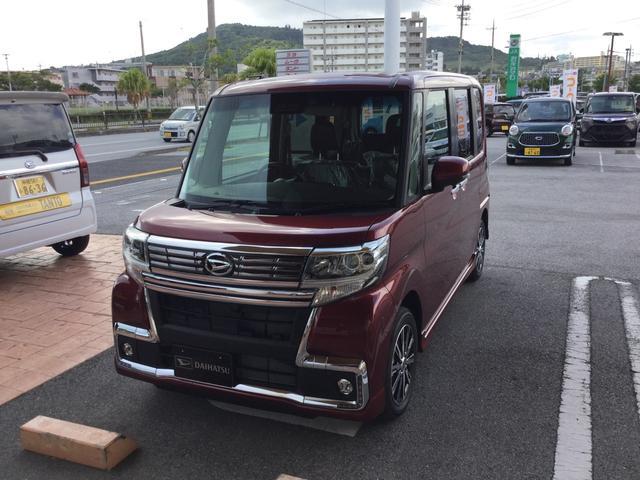 沖縄の中古車 ダイハツ タント 車両価格 167万円 リ済別 2018(平成30)年 5km ファイアークォーツレッドM