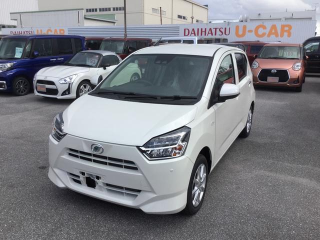 沖縄の中古車 ダイハツ ミライース 車両価格 124万円 リ済別 2019(平成31)年 8km パールホワイト3