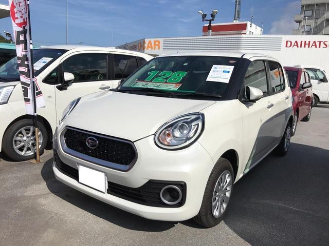 沖縄の中古車 ダイハツ ブーン 車両価格 128万円 リ済別 2018(平成30)年 0.1万km パールホワイト3