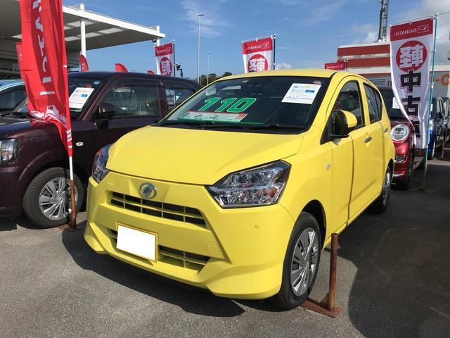 沖縄の中古車 ダイハツ ミライース 車両価格 110万円 リ済別 2019(平成31)年 8km レモンスカッシュクリスタルM