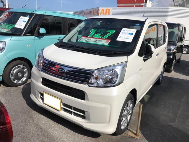 沖縄の中古車 ダイハツ ムーヴ 車両価格 127万円 リ済別 2018(平成30)年 5km パールホワイト3
