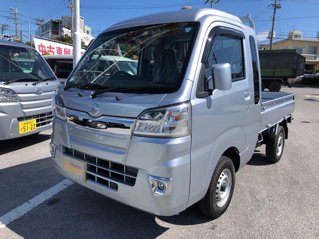 沖縄の中古車 ダイハツ ハイゼットトラック 車両価格 121万円 リ済別 2018(平成30)年 702km ブライトシルバーM