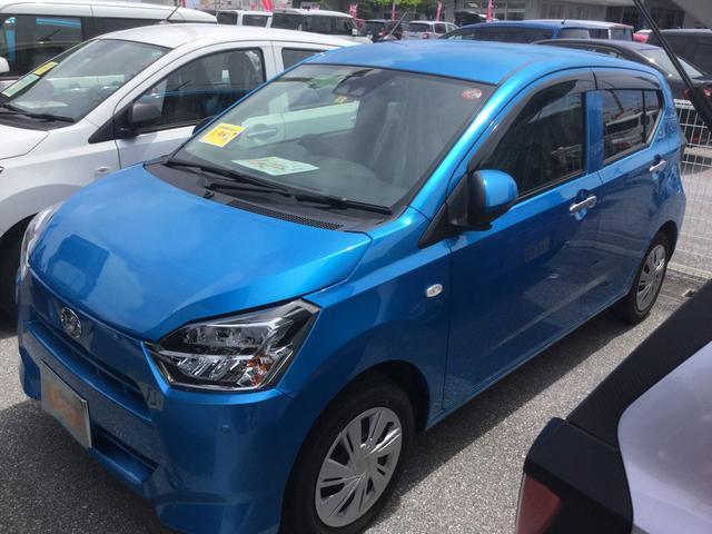 沖縄の中古車 ダイハツ ミライース 車両価格 106万円 リ済別 2018(平成30)年 0.8万km スプラッシュブルーM
