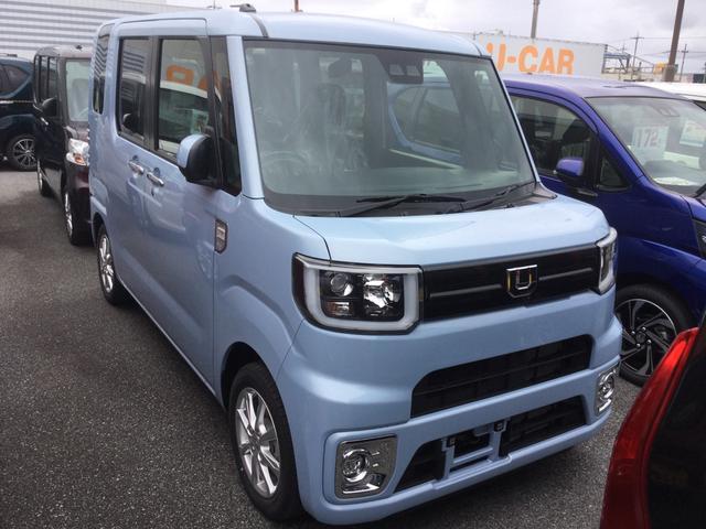 沖縄の中古車 ダイハツ ウェイク 車両価格 161万円 リ済別 2019(令和1)年 7km ミストブルーマイカM