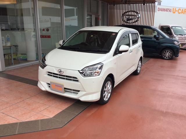沖縄の中古車 ダイハツ ミライース 車両価格 129万円 リ済別 2019(平成31)年 0.3万km パールホワイト3