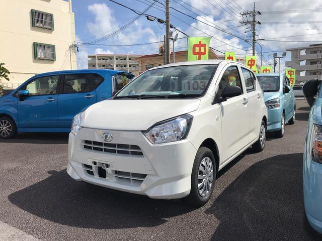 沖縄の中古車 ダイハツ ミライース 車両価格 91万円 リ済別 2019(令和1)年 5km パールホワイト3