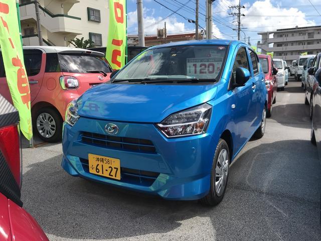 沖縄の中古車 ダイハツ ミライース 車両価格 108万円 リ済別 2019(令和1)年 8km スプラッシュブルーM