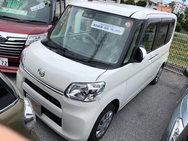 沖縄の中古車 ダイハツ タント 車両価格 149万円 リ済別 2018(平成30)年 1.9万km パールホワイト3