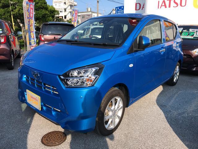 沖縄の中古車 ダイハツ ミライース 車両価格 121万円 リ済別 2019(令和1)年 10km スプラッシュブルーM