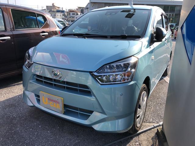 沖縄の中古車 ダイハツ ミライース 車両価格 105万円 リ済別 2018(平成30)年 0.5万km スカイブルーM