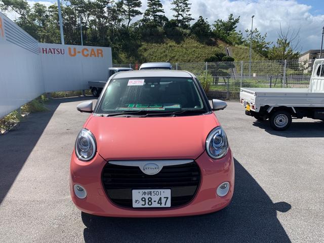 沖縄の中古車 ダイハツ ブーン 車両価格 163万円 リ済別 2020(令和2)年 3km ホワイト×ジューシーピンクメタリック