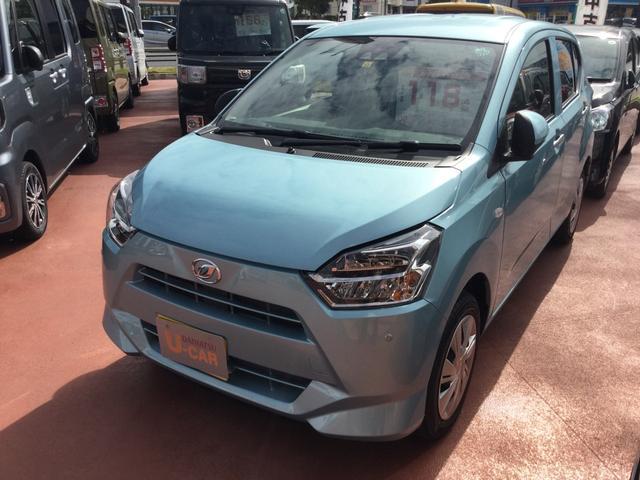 沖縄の中古車 ダイハツ ミライース 車両価格 110万円 リ済別 2020(令和2)年 18km スカイブルーM