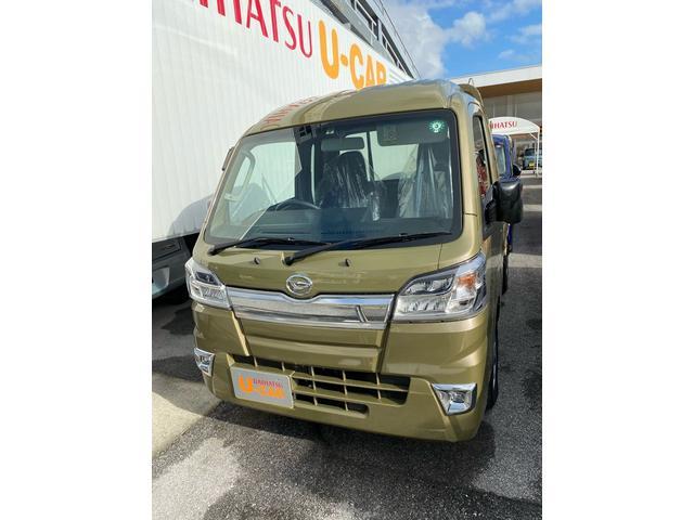 沖縄の中古車 ダイハツ ハイゼットトラック 車両価格 113万円 リ済別 2020(令和2)年 7km オフビートカーキM