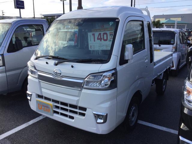 沖縄県の中古車ならハイゼットトラック ジャンボSAIIIt 大型荷台作業灯 パワーウィンドウ キーレスエントリー テールゲートチェーン