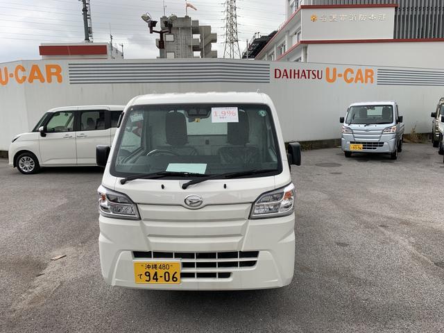沖縄の中古車 ダイハツ ハイゼットトラック 車両価格 106万円 リ済別 2020(令和2)年 5km ホワイト