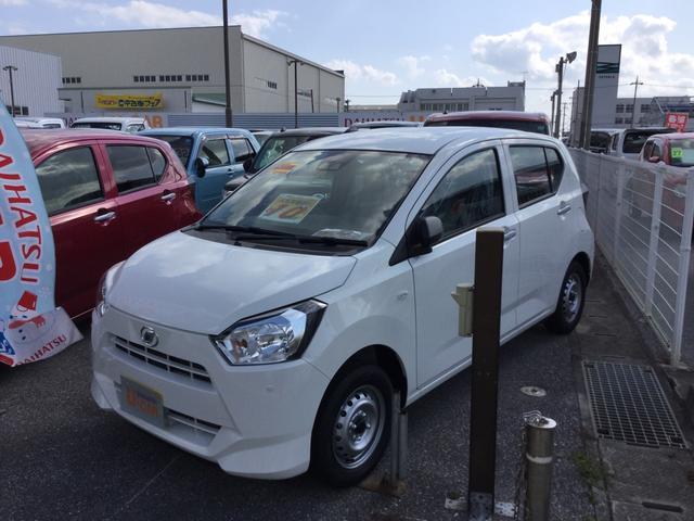 沖縄の中古車 ダイハツ ミライース 車両価格 87万円 リ済別 2020(令和2)年 5km ホワイト