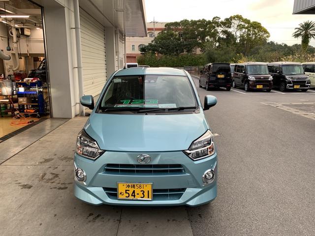 沖縄の中古車 ダイハツ ミライース 車両価格 113万円 リ済別 2018(平成30)年 0.4万km スカイブルーM