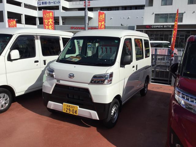 沖縄の中古車 ダイハツ ハイゼットカーゴ 車両価格 107万円 リ済別 2020(令和2)年 5km ホワイト