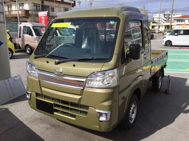 沖縄の中古車 ダイハツ ハイゼットトラック 車両価格 127万円 リ済別 2020(令和2)年 5km オフビートカーキM