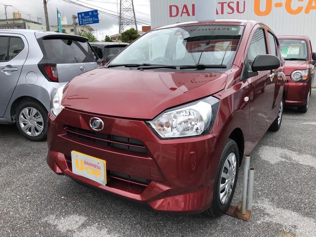 沖縄の中古車 ダイハツ ミライース 車両価格 92万円 リ済別 2020(令和2)年 4km ファイアークォーツレッドM