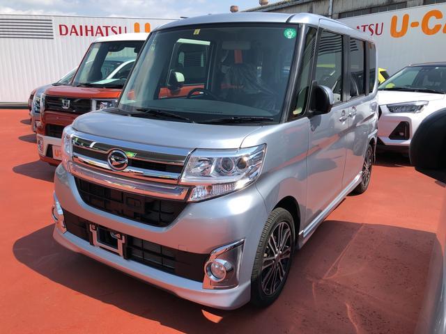 ダイハツ カスタムRS SA 両側パワースライドドア ナビ付 スマートアシスト搭載 エアコン パワステ パワーウインド エアバック ABS キーフリー アルミホイール 電動ドアミラー