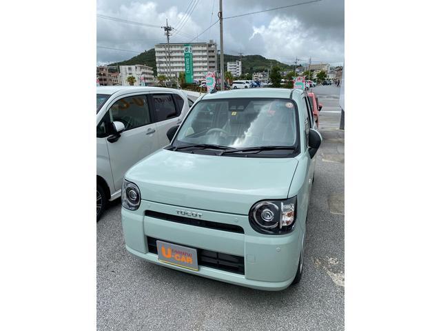 沖縄の中古車 ダイハツ ミラトコット 車両価格 120万円 リ済別 2021(令和3)年 5km セラミックグリーンM