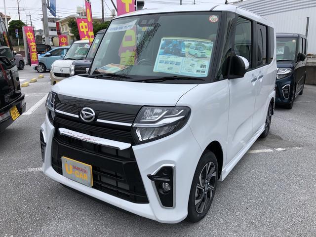 沖縄の中古車 ダイハツ タント 車両価格 172万円 リ済別 2021(令和3)年 5km シャイニングホワイトパール