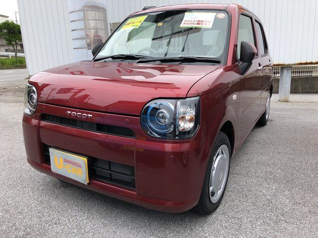 沖縄の中古車 ダイハツ ミラトコット 車両価格 119万円 リ済別 2021(令和3)年 4km ファイアークォーツレッドM