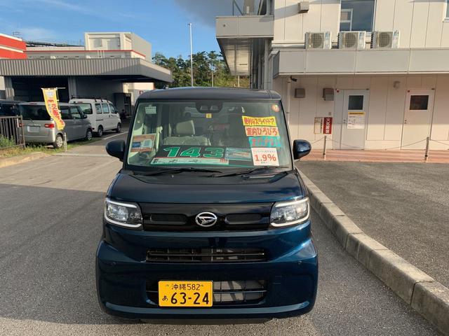 沖縄の中古車 ダイハツ タント 車両価格 143万円 リ済別 2021(令和3)年 17km レーザーブルークリスタルシャイン