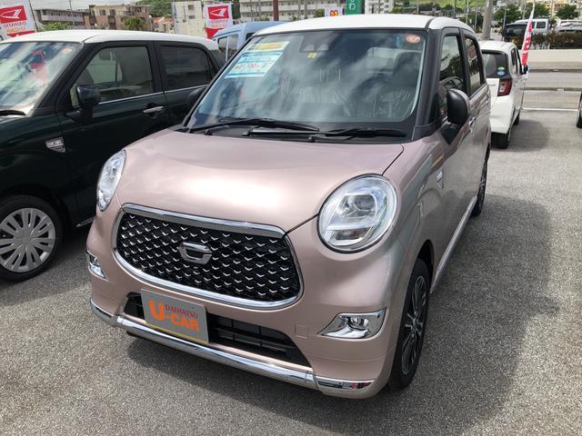 沖縄の中古車 ダイハツ キャスト 車両価格 147万円 リ済別 2021(令和3)年 4km ライトローズマイカM