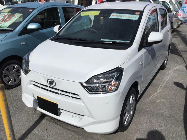 沖縄の中古車 ダイハツ ミライース 車両価格 108万円 リ済別 2021(令和3)年 5km シャイニングホワイトパール