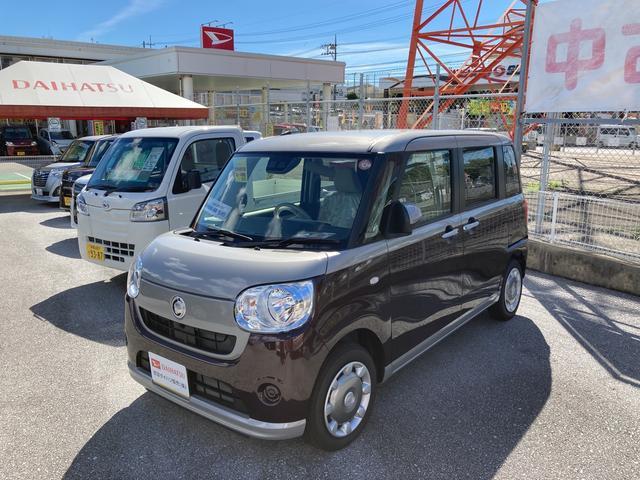 沖縄の中古車 ダイハツ ムーヴキャンバス 車両価格 143万円 リ済別 2021(令和3)年 6km スムースグレー X プラムブラウン