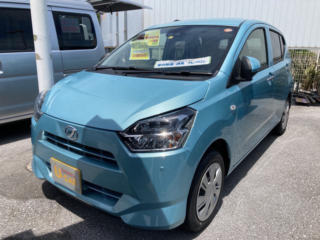 沖縄の中古車 ダイハツ ミライース 車両価格 100万円 リ済別 2021(令和3)年 5km スカイブルーM