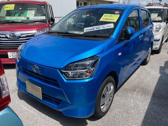 沖縄の中古車 ダイハツ ミライース 車両価格 105万円 リ済別 2021(令和3)年 5km スプラッシュブルーM