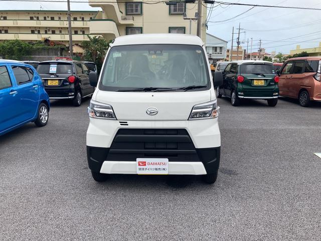沖縄の中古車 ダイハツ ハイゼットカーゴ 車両価格 109万円 リ済別 2021(令和3)年 3km ホワイト