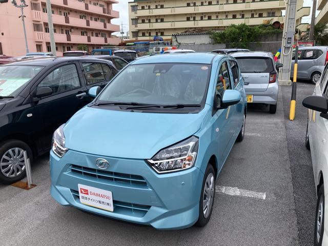 沖縄の中古車 ダイハツ ミライース 車両価格 100万円 リ済別 2021(令和3)年 4km スカイブルーM