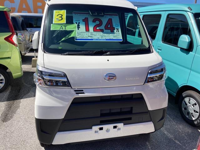 沖縄の中古車 ダイハツ ハイゼットカーゴ 車両価格 124万円 リ済別 2021(令和3)年 4km ホワイト