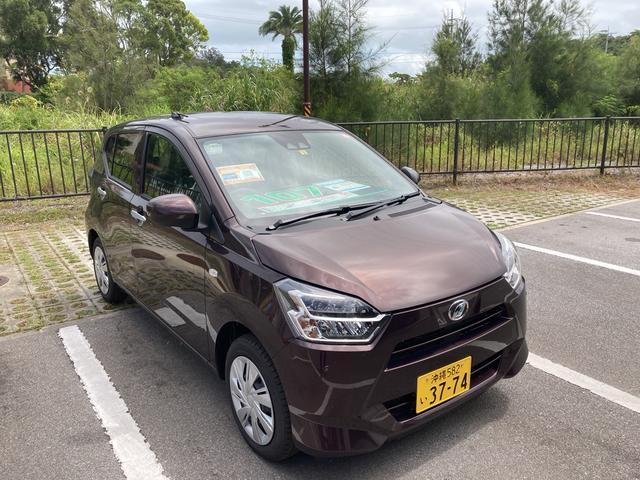 沖縄の中古車 ダイハツ ミライース 車両価格 102万円 リ済別 2021(令和3)年 4km プラムブラウンクリスタルマイカ