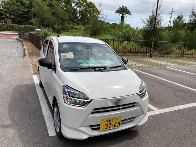 沖縄の中古車 ダイハツ ミライース 車両価格 100万円 リ済別 2021(令和3)年 6km ホワイト