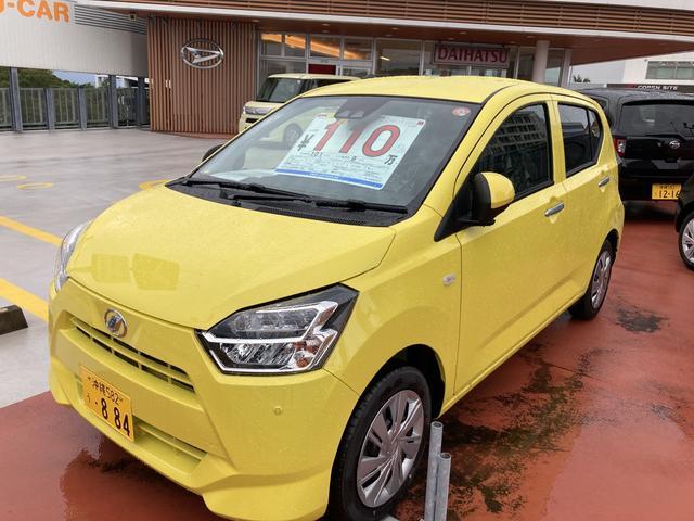 沖縄の中古車 ダイハツ ミライース 車両価格 101万円 リ済別 2021(令和3)年 5km レモンスカッシュクリスタルM
