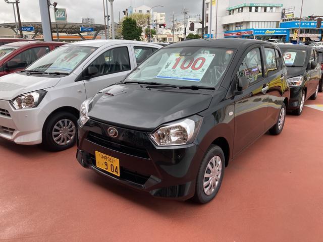 沖縄の中古車 ダイハツ ミライース 車両価格 89万円 リ済別 2021(令和3)年 4km ブラックマイカM