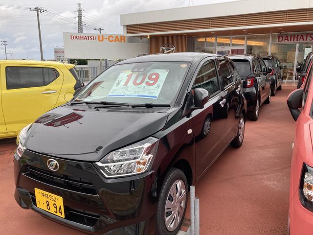 沖縄の中古車 ダイハツ ミライース 車両価格 100万円 リ済別 2021(令和3)年 4km ブラックマイカM